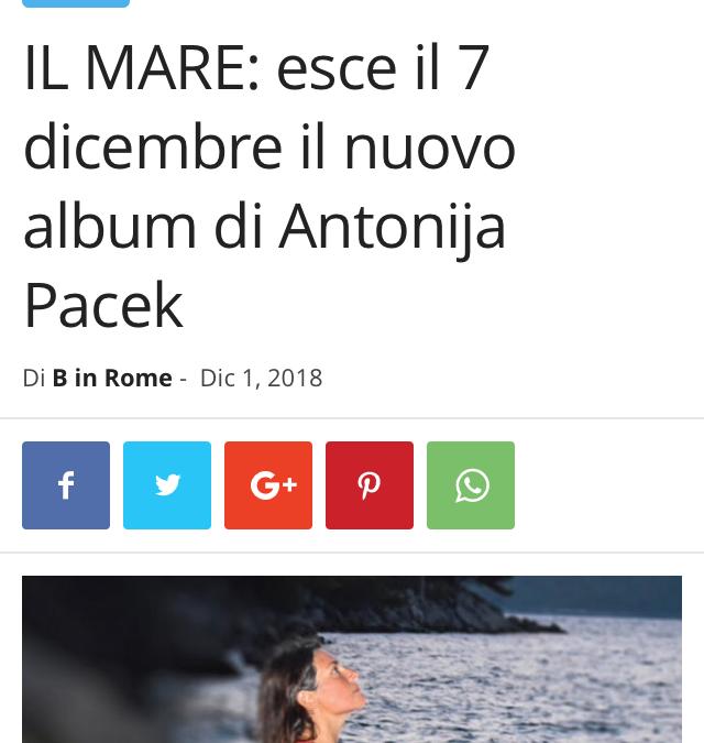 B in Rome promotes IL MARE album
