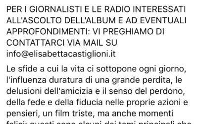 Pianeta Salute endorses new album IL MARE