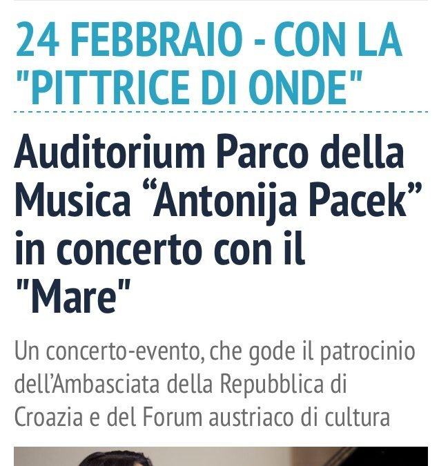 IL Quotidiano Del Lazio endorses my concert in Rome
