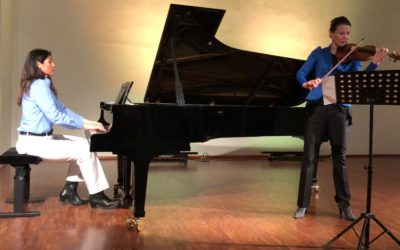 Katharina Göschke and I play the song Forgive