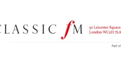CLASSIC FM radio in UK broadcasts ALOFT