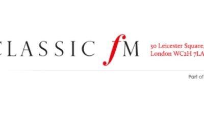 CLASSIC FM radio in UK broadcasts ALOFT