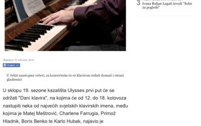Glas Slavonije reports about our concert on Brijuni