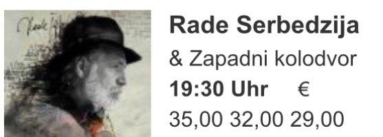 Rade Serbedzija's concert in Vienna