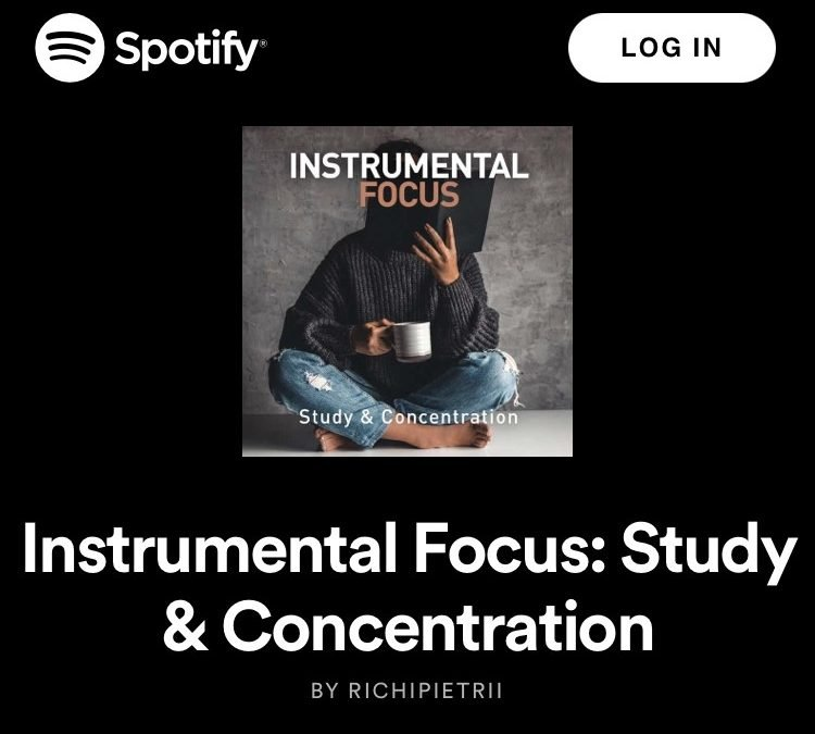 Instrumental Focus: Study & Concentration on Spotify